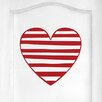 Cut It Out Wall Stickers Striped Heart Door Room Wall Sticker