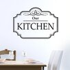 Cut It Out Wall Stickers Classic Our Kitchen Sign Wall Sticker