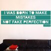 Cut It Out Wall Stickers Drake I Was Born To Make Mistakes Not Fake Perfection Wall Sticker