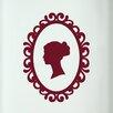 Cut It Out Wall Stickers Women's Profile in Art Nouveau Frame Door Room Wall Sticker