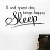 Cut It Out Wall Stickers A Well Spent Day Brings Happy Sleep Wall Sticker