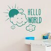 Cut It Out Wall Stickers Hello World Wall Sticker