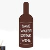 Cut It Out Wall Stickers Save Water Drink Wine Bottle Label Wall Sticker