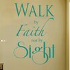 Cut It Out Wall Stickers Walk By Faith Not By Sight Wall Sticker