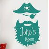Cut It Out Wall Stickers Personalised Captain Pirate Kids Room Sign Wall Sticker