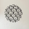 Cut It Out Wall Stickers Layard Flower Pattern Within Circle Wall Sticker