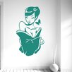 Cut It Out Wall Stickers Beautiful Asian Woman Wall Sticker