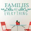 Cut It Out Wall Stickers Families Are Everything Floral Wall Sticker