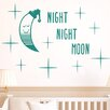Cut It Out Wall Stickers Night Night Moon Wall Sticker