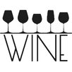 Cut It Out Wall Stickers Five Different Wine Glass Sign Wall Sticker