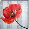 EMDÉ Sonia's Garden - Poppy Graphic Art on Canvas