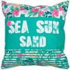 Island Girl Home Sea Sun Sand Throw Pillow