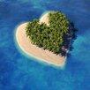 Pro-Art Glasbild Island Of Love IV, Kunstdruck