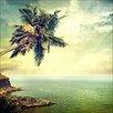 Pro-Art Glasbild Palm Tree, Kunstdruck