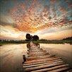 Pro-Art Glasbild Colourful View, Kunstdruck