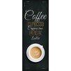 Pro-Art Glasbild Coffee Americano, Kunstdruck