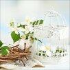 Pro-Art White & Yellow Flowers I Painting Print Glass Art