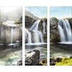 Pro-Art Black & White Waterfall Painting Print Glass Art
