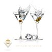 Pro-Art Glasbild Dry Martini, Kunstdruck