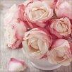 Pro-Art Glasbild Vintage Roses I, Kunstdruck