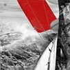 Pro-Art Glasbild Red Spinnaker III, Kunstdruck
