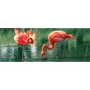 Pro-Art Glasbild Flamingo I, Kunstdruck