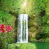 Pro-Art Exotic Waterfall Painting Print Glass Art