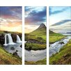 Pro-Art Glasbild Kirkjufellfoss, Kunstdruck