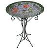 Gardener's Select Mosaic Glass Hummingbird Birdbath - BFG Supply Co Bird Baths
