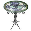 Gardener's Select Mosaic Glass Frog Birdbath - BFG Supply Co Bird Baths