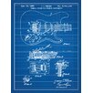 Inked and Screened Fender Stratocaster Guitar Blueprint Graphic Art