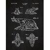 Inked and Screened Star Wars Slave-I Blueprint Graphic Art