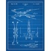 Inked and Screened Star Wars X-Wing 2 Blueprint Graphic Art