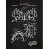 Inked and Screened Sporting Goods 'Modern Football Shoulder Pads' Silk Screen Print Graphic Art in Chalkboard/White Ink