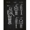 Inked and Screened Sci-Fi and Fantasy 'Star Wars Characters: 2 1B' Silk Screen Print Graphic Art in Chalkboard/White Ink