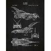 Inked and Screened Sci-Fi and Fantasy 'Batmobile' Silk Screen Print Graphic Art in Chalkboard/White Ink