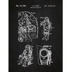 Inked and Screened Tech and Gadgets 'Mobile Space Suit' Silk Screen Print Graphic Art in Chalkboard/White Ink