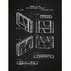 Inked and Screened Gaming 'Video Game Machine Cartridge' Silk Screen Print Graphic Art in Chalkboard/White Ink