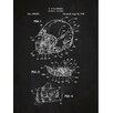 Inked and Screened Sporting Goods 'Modern Football Helmet' Silk Screen Print Graphic Art in Chalkboard/White Ink