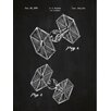 Inked and Screened Sci-Fi and Fantasy 'Star Wars Vehicles: Tie Fighter' Silk Screen Print Graphic Art in Chalkboard/White Ink