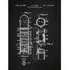Inked and Screened Tech and Gadgets 'Space Exploration Rocket' Silk Screen Print Graphic Art in Chalkboard/White Ink