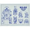 Inked and Screened Sci-Fi and Fantasy 'Star wars Characters: R2 D2 Profile' Silk Screen Print Graphic Art