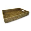 artifacts trading Rattan Rectangular Tray with Cutout Handles