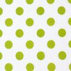 Sheetworld Polka Dots Mini Fitted Crib Sheet
