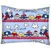 Sheetworld Fun Train Tracks Cotton Percale Pillowcase