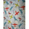 Sheetworld Kiddie Airplanes Travel Fitted Crib Sheet