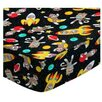 Sheetworld Space Monkeys Oval Fitted Crib Sheet