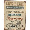 dio Only for You Life is Like Bike Riding Wall Decor