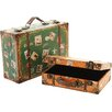 dio Only for You 2-Piece Stamp Suitcase Set