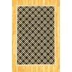 Home Fabrics and Rugs Veranda Black and Beige Outdoor Area Rug
